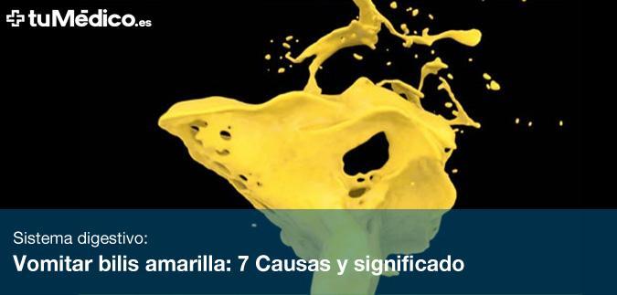 Vomitar bilis amarilla: 7 Causas y significado